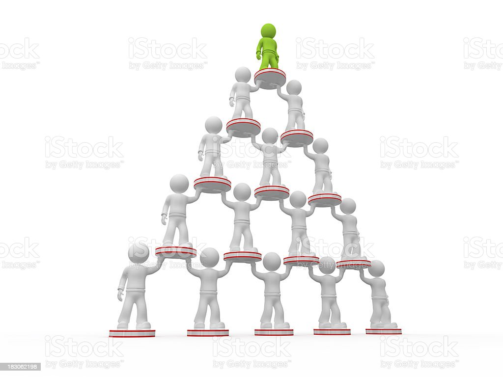 MLM bussines structure. stock photo