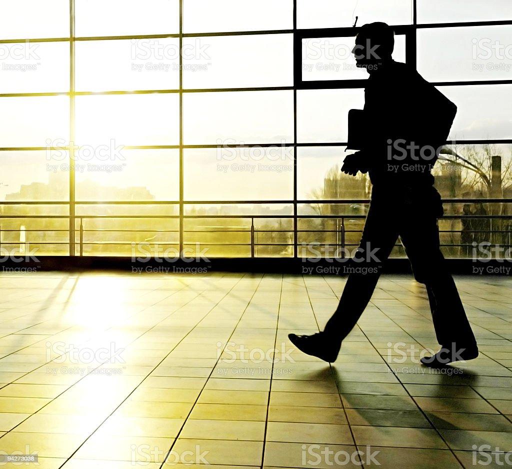 Bussinesman walking royalty-free stock photo