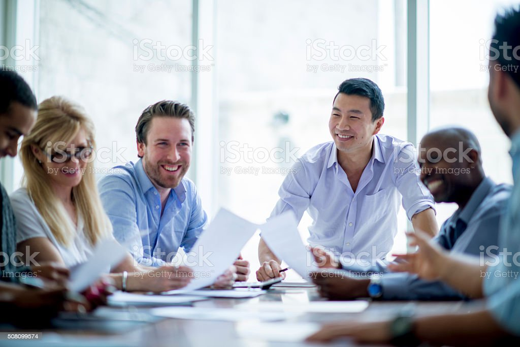 Bussiness Associates in a Meeting stock photo