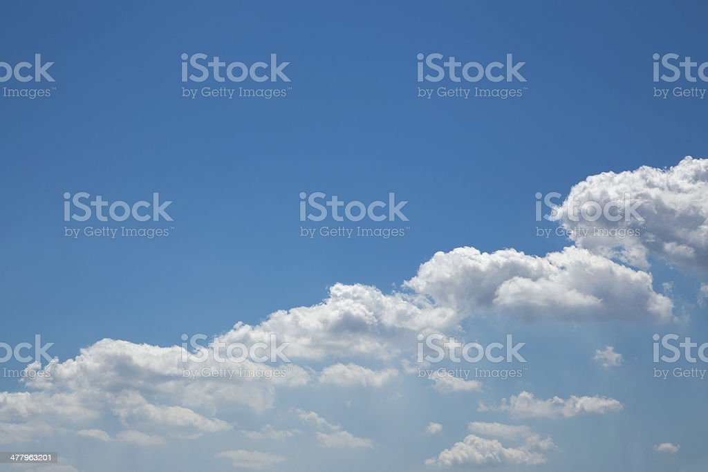 bussiness growth:Beautiful row of Clouds royalty-free stock photo