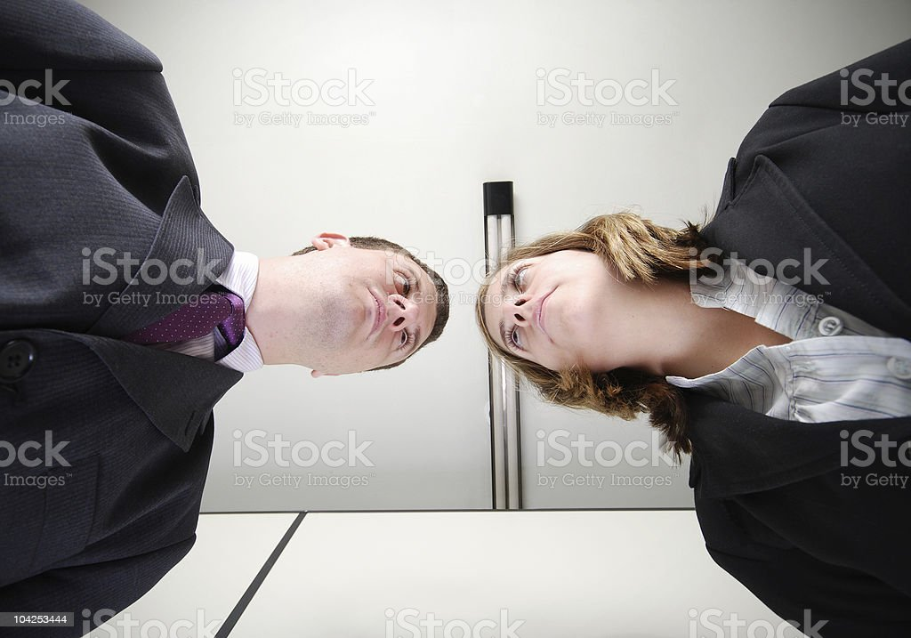 Bussiness Rivalry royalty-free stock photo