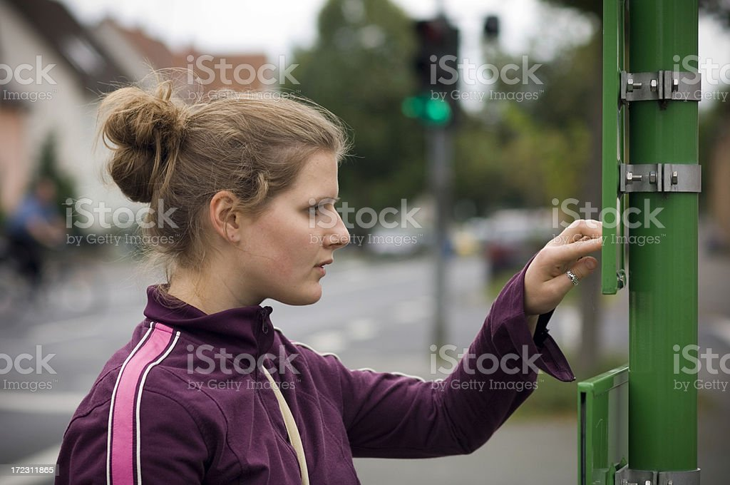 Busstop royalty-free stock photo