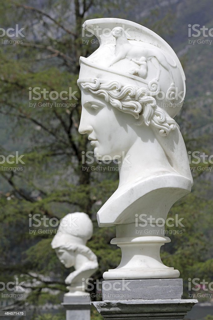 Bust of Athena stock photo