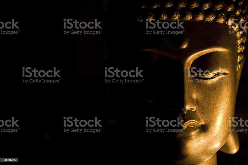 Bust of Buddha's Face stock photo
