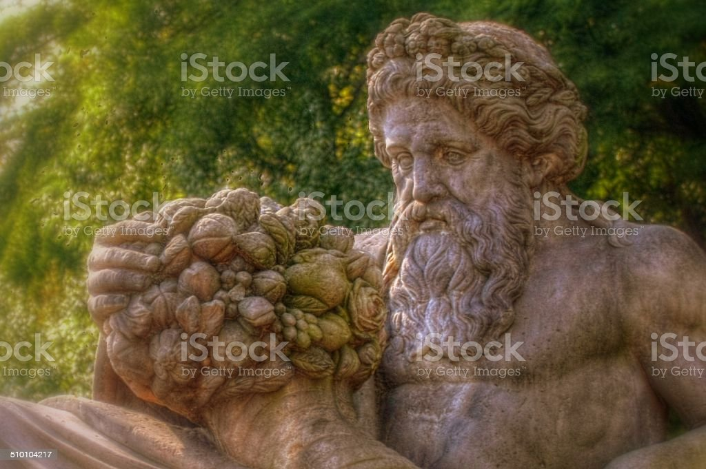 Busto de Dionysos com efeito, de uma cornucópia foto de stock royalty-free