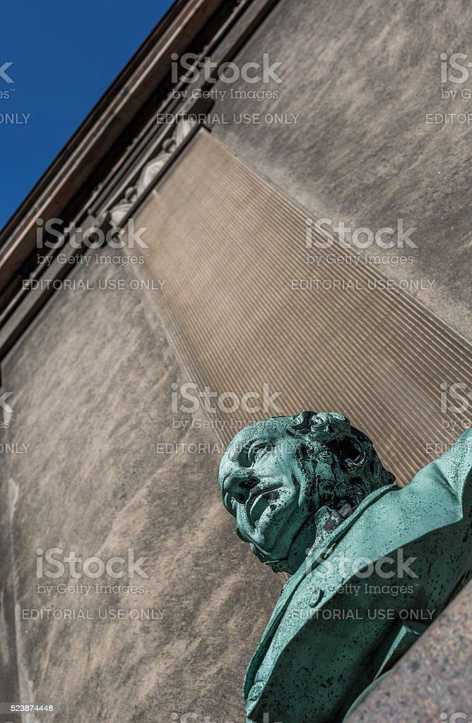 Bust of Johan Nicolai Madvig, Copenhagen, Denmark stock photo