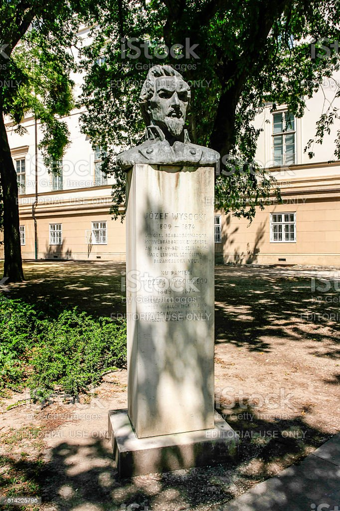 Bust of Josefa Wysockeigo in Budapest, Hungary stock photo