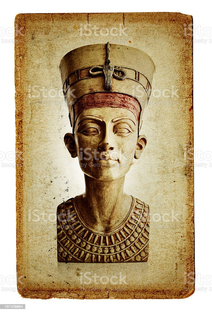 bust of Nefertiti royalty-free stock photo