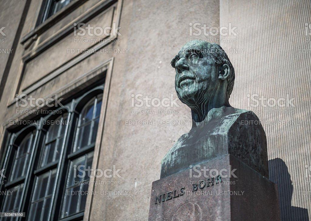Bust of Niels Bohr , Copenhagen, Denmark stock photo