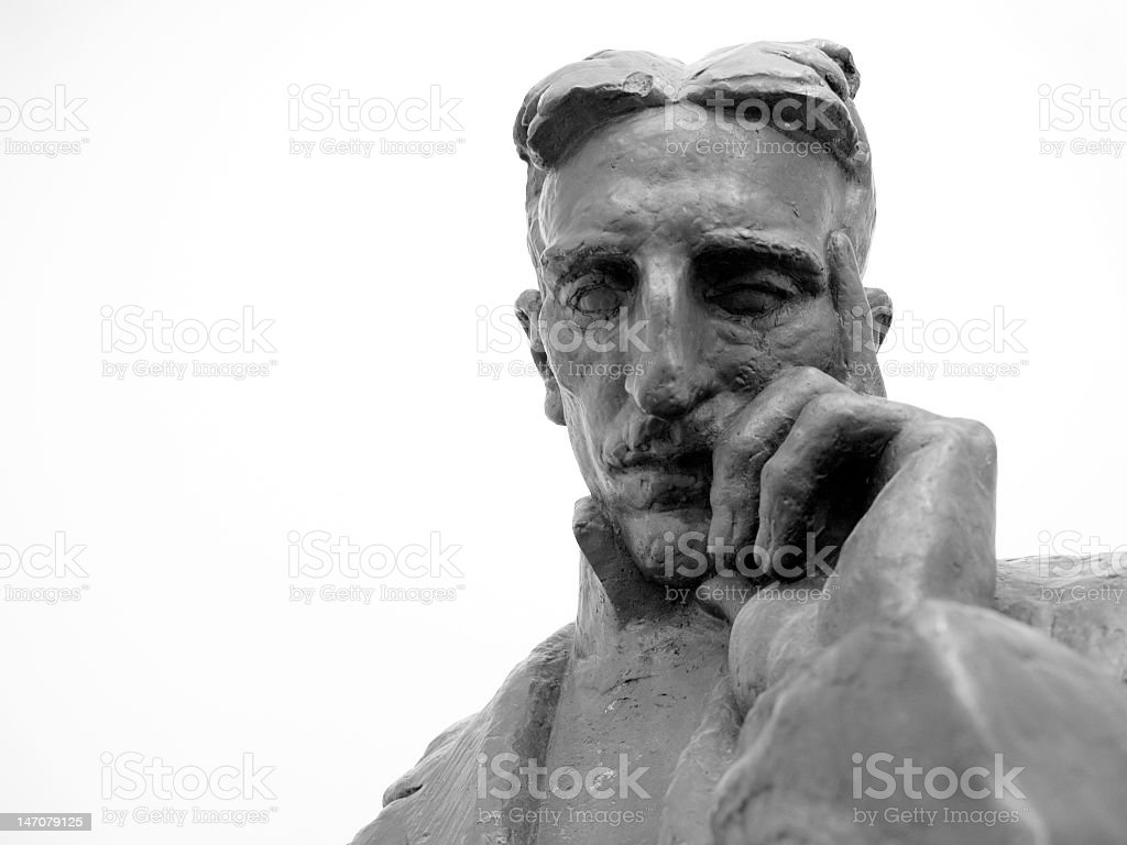 Bust of Nikola Tesla royalty-free stock photo