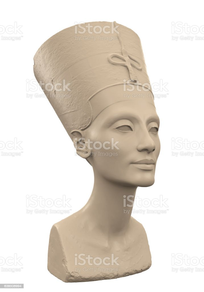 Bust of Queen Nefertiti stock photo