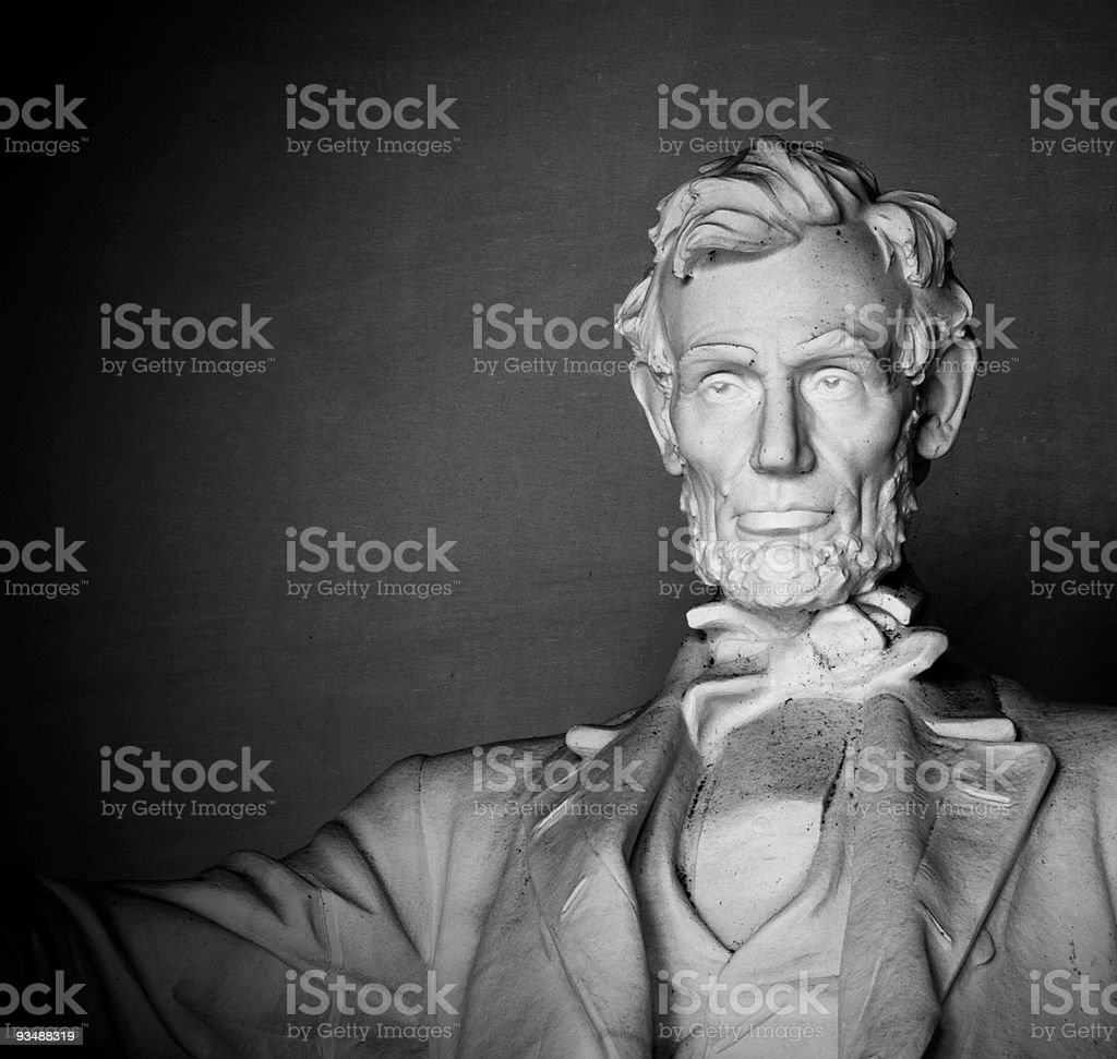 Bust of the Lincoln Memorial in Washington, D.C stock photo