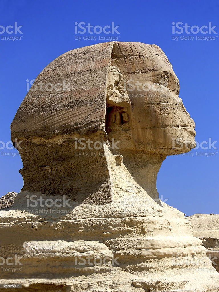 Busto de la Esfinge royalty-free stock photo