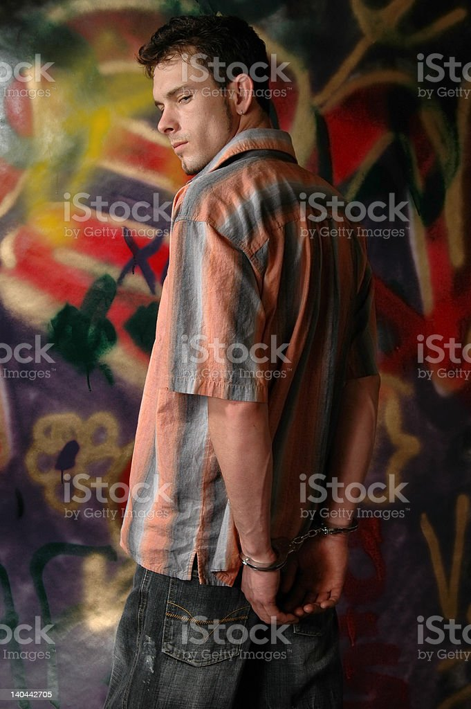 Busted stock photo