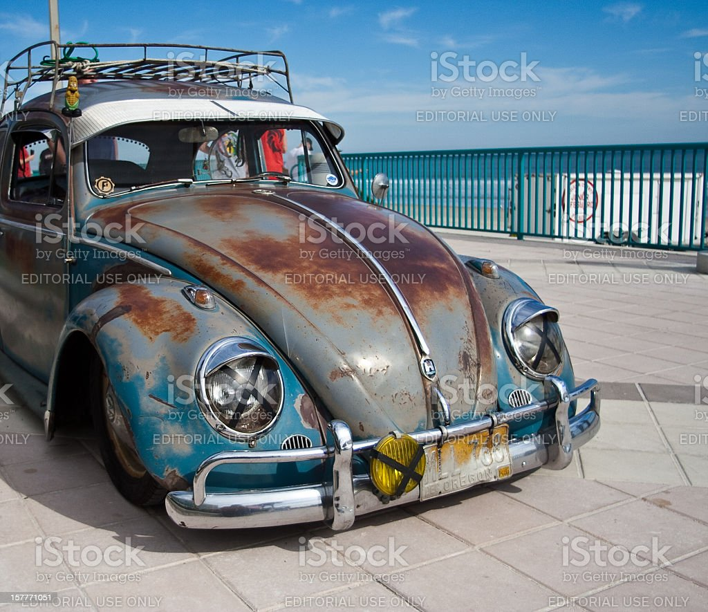 Busted VW Bettle stock photo