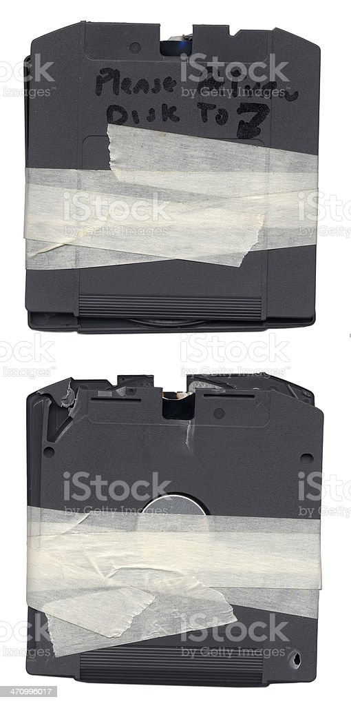 Busted Zip Disk stock photo