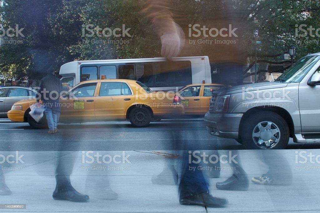 Bustling New York City stock photo