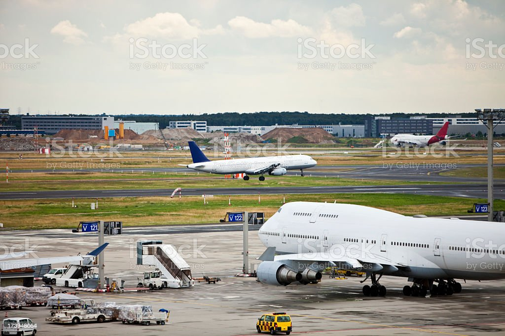 Busy Airport Apron stock photo