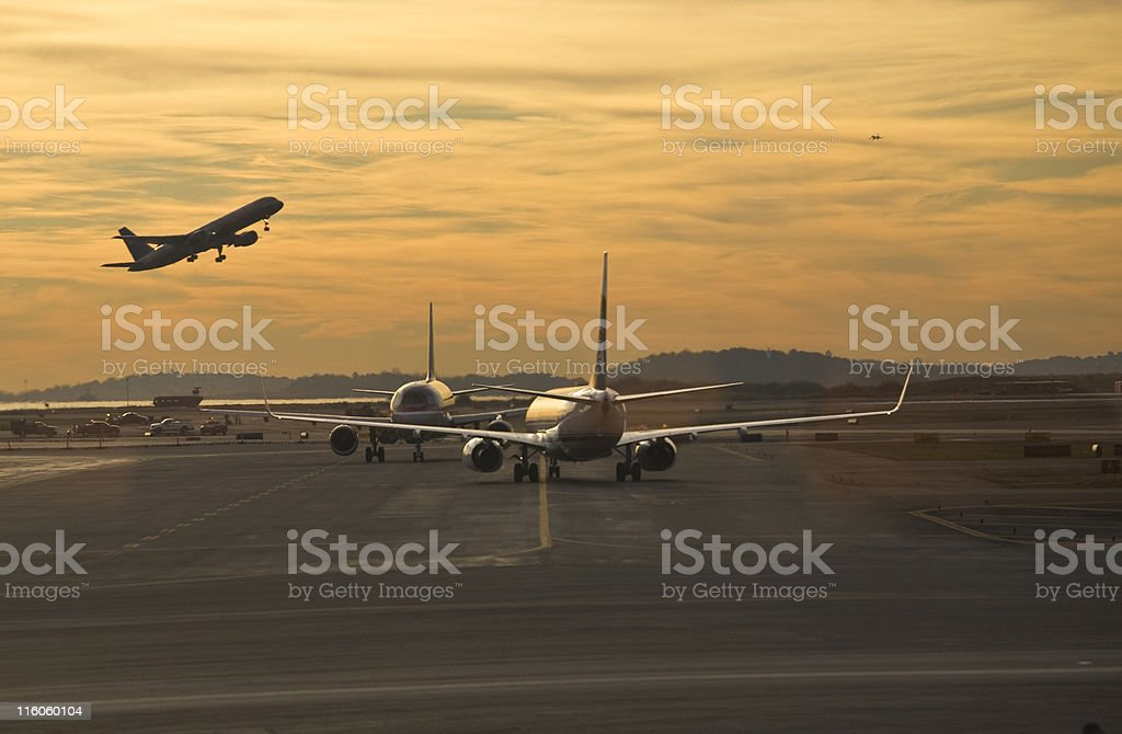 Busy Airport stock photo