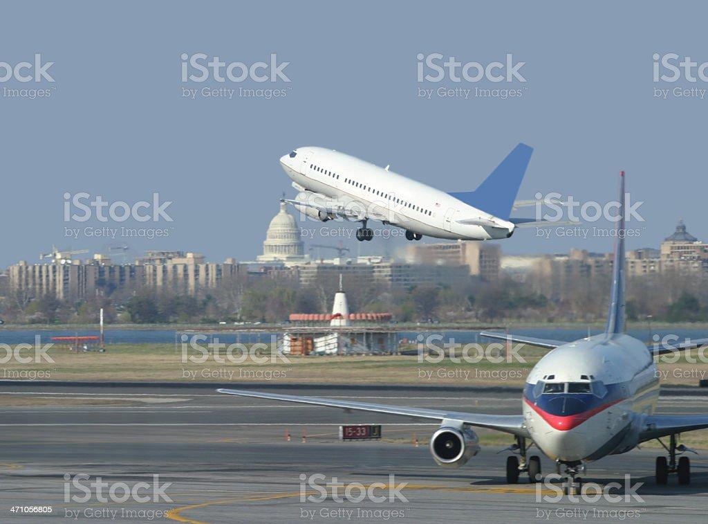 Busy Airport Scene stock photo