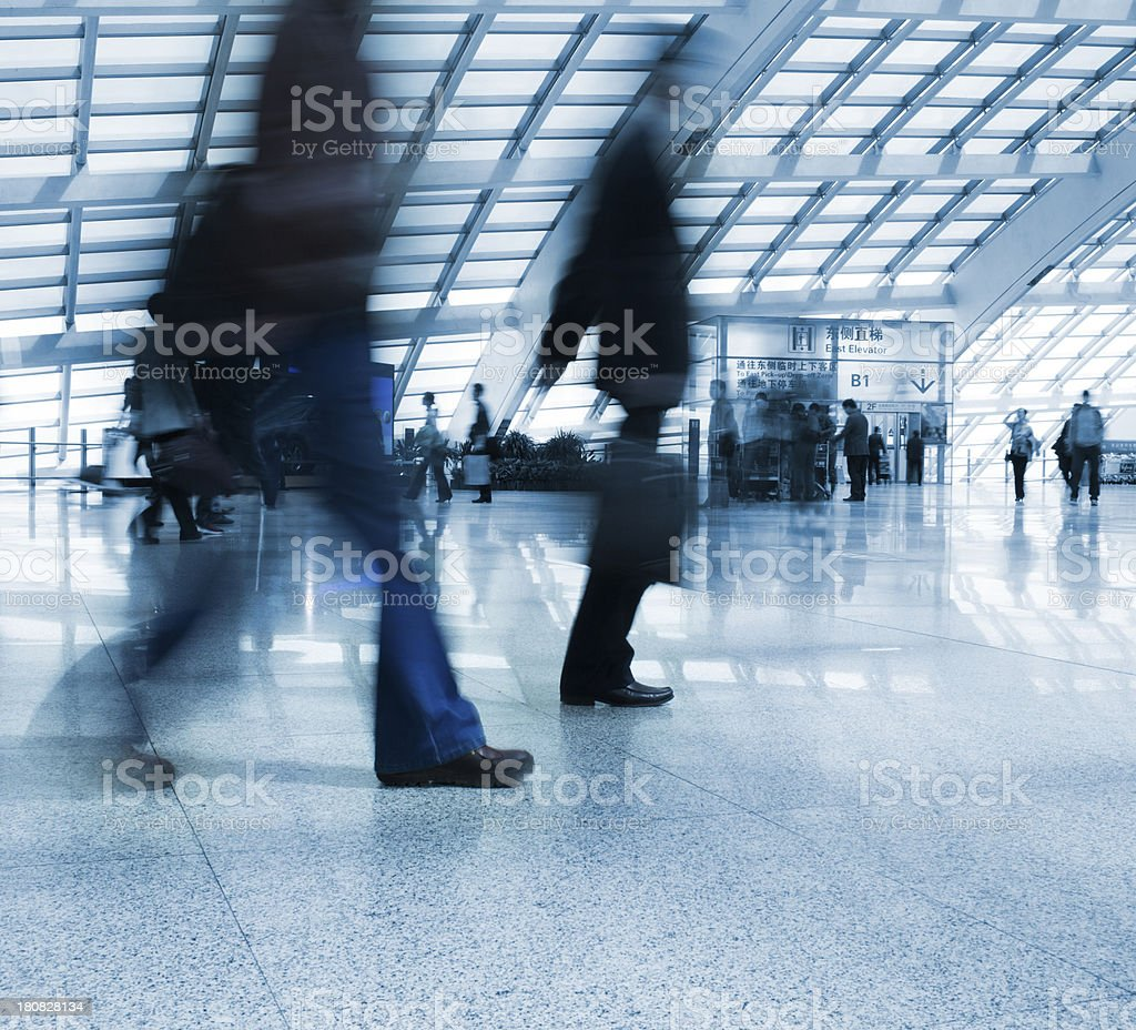 Busy airport travel day royalty-free stock photo