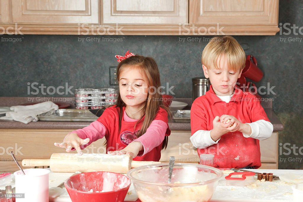 Busy Bakers stock photo
