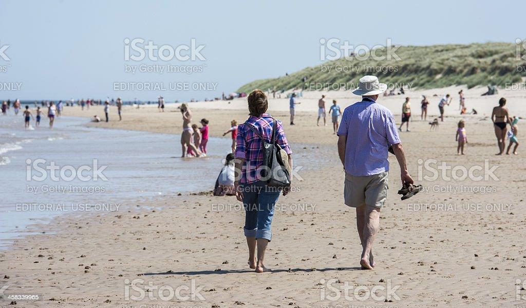 Busy Beach Scene royalty-free stock photo