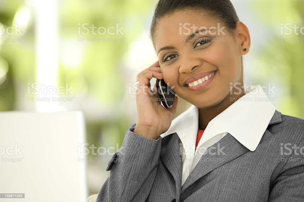 Busy Black Businesswoman royalty-free stock photo