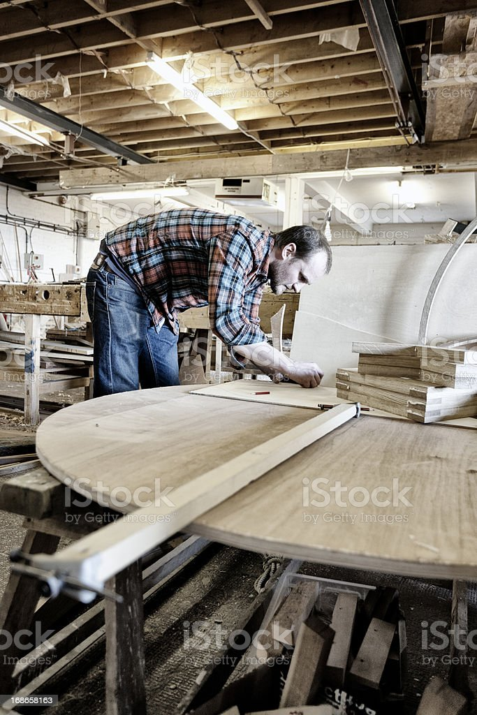 Busy boat building royalty-free stock photo