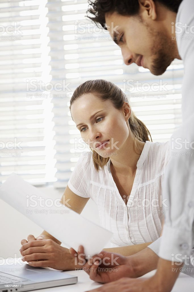Busy business colleagues working together royalty-free stock photo