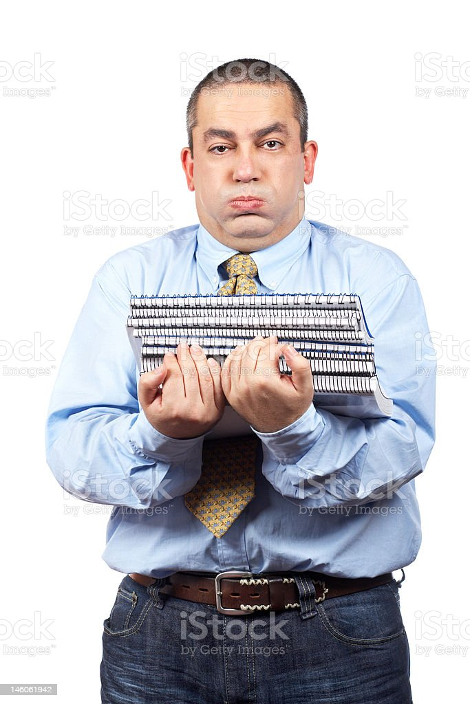 Busy business man royalty-free stock photo