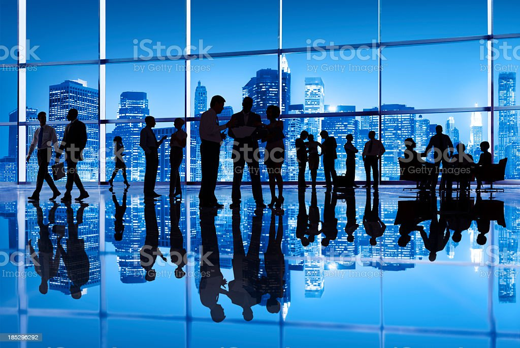 Busy business office in New York royalty-free stock photo