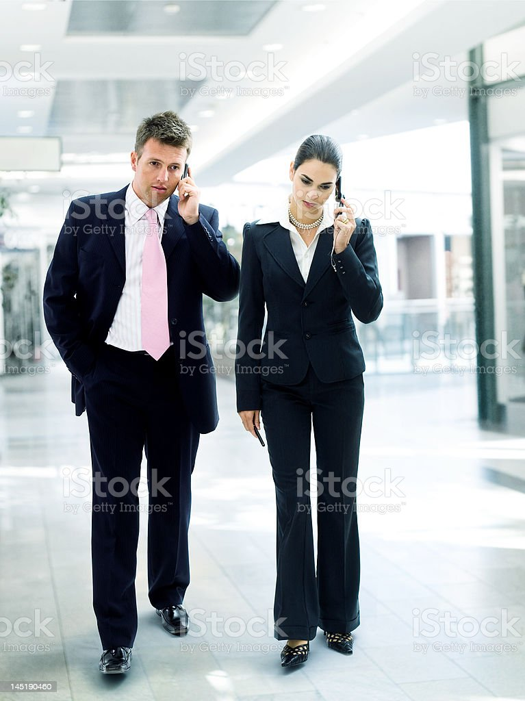 Busy business people royalty-free stock photo
