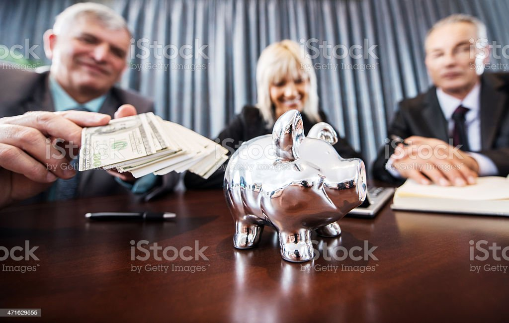 Busy business people. royalty-free stock photo