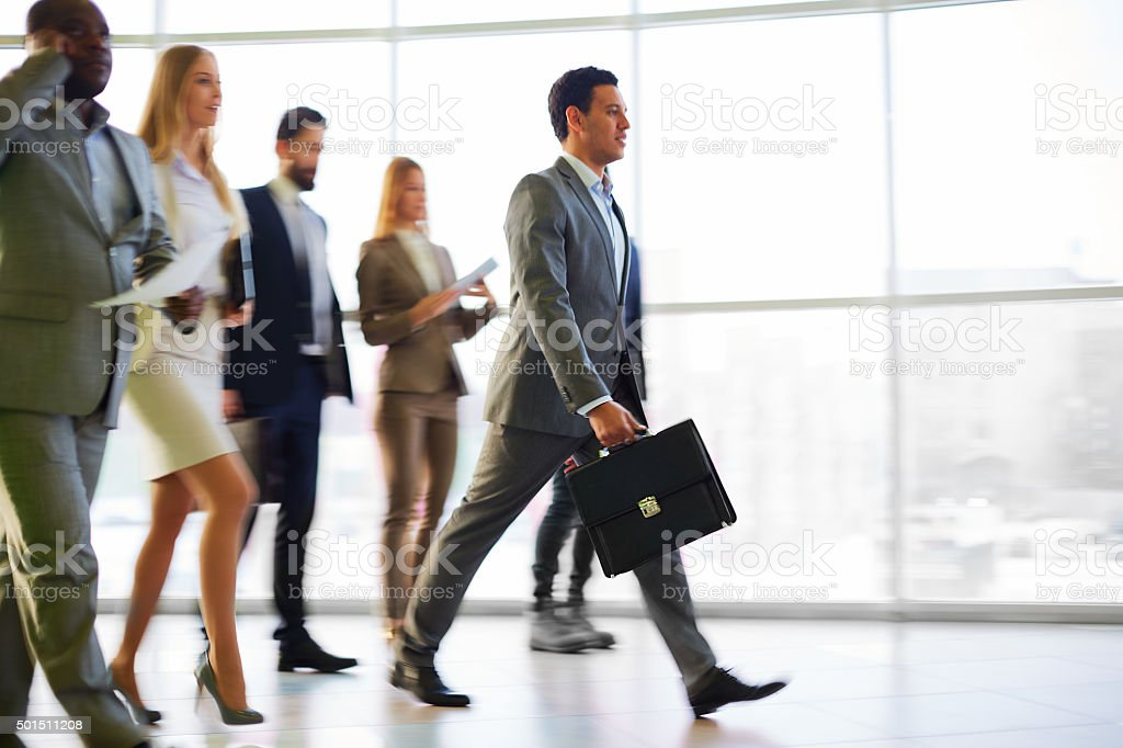 Busy business people stock photo