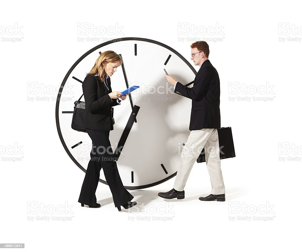 Busy Business People Time Managing Work Life royalty-free stock photo