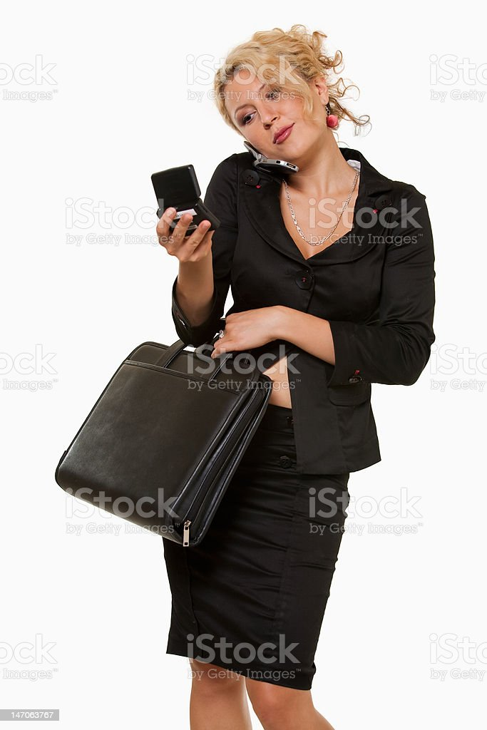 Busy business woman royalty-free stock photo