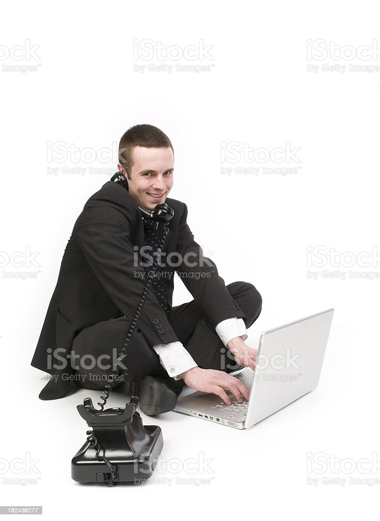 Busy Businessman stock photo