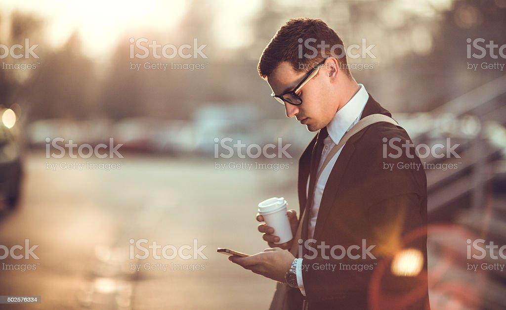Busy Businessman stock photo