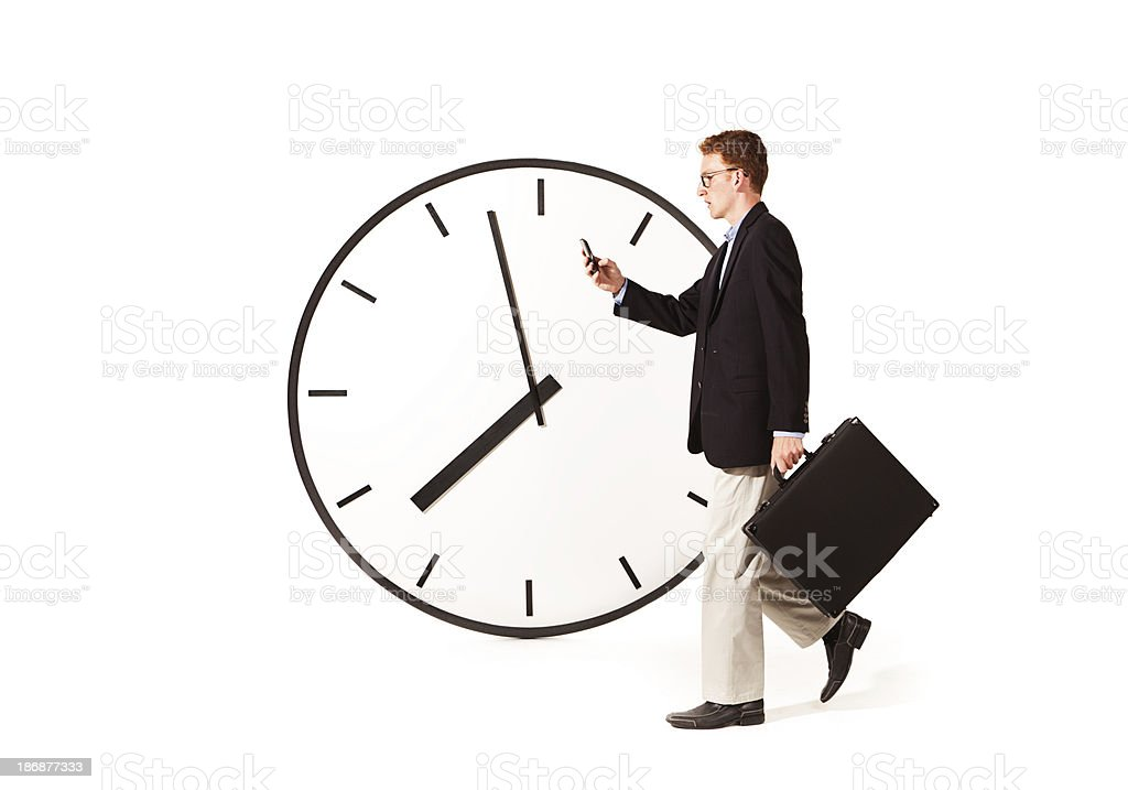 Busy Businessman Time Managing Work Life royalty-free stock photo