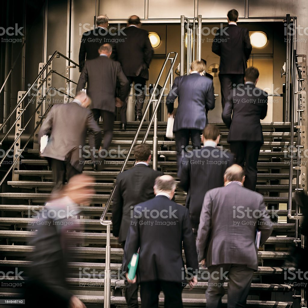 Busy Businessmen stock photo