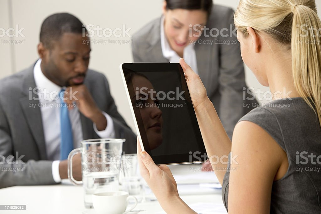Busy Businesspeople stock photo