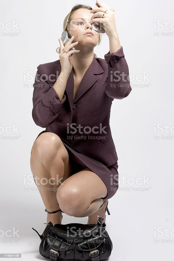 busy, but in control stock photo