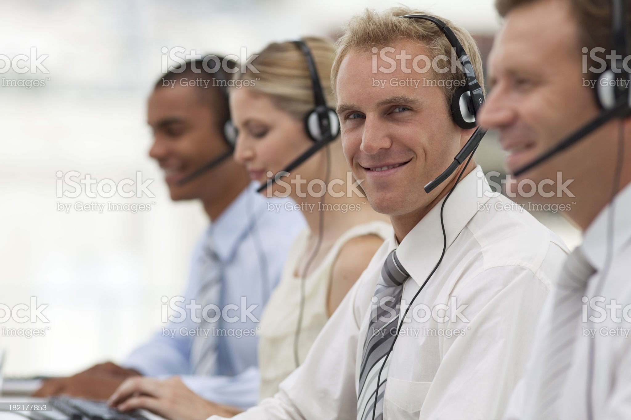 Busy Call Center royalty-free stock photo