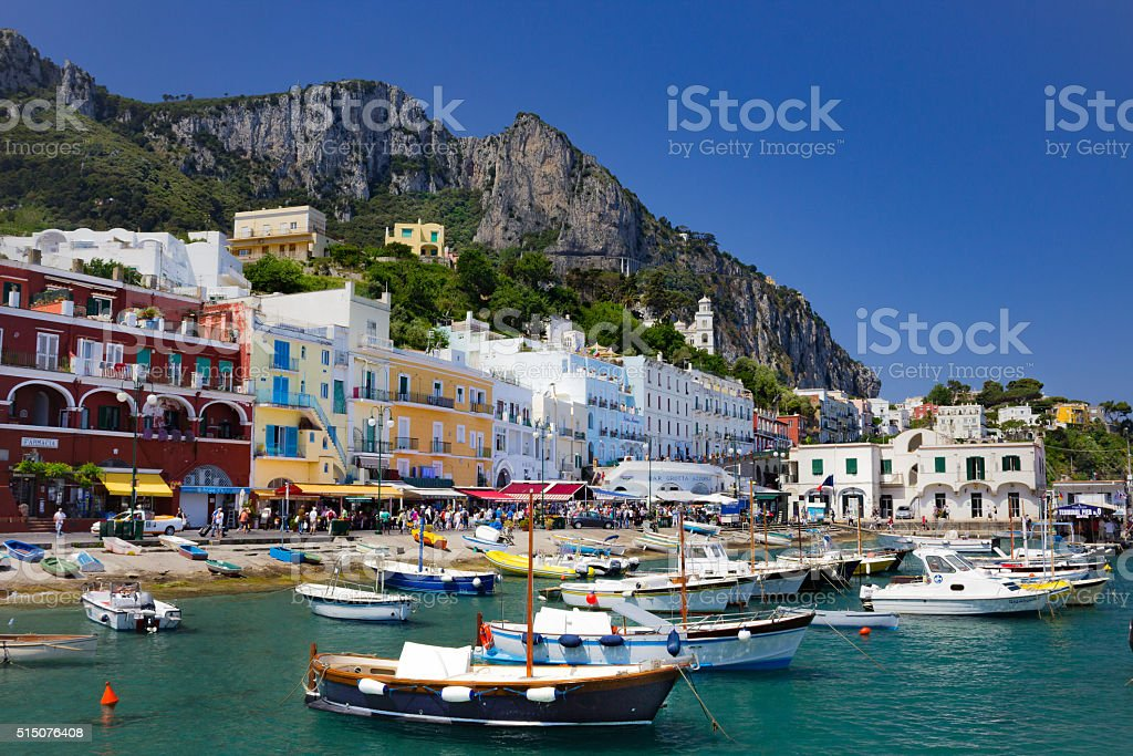Busy Capri stock photo