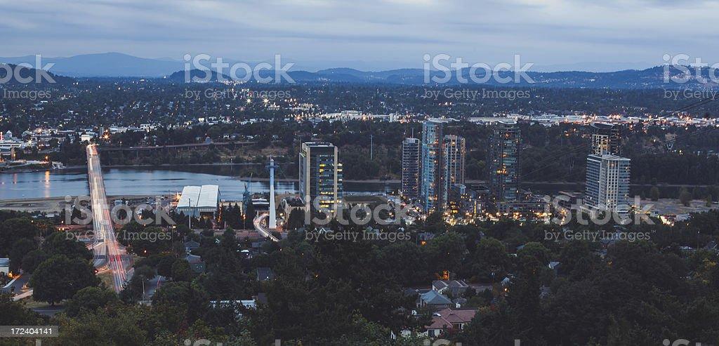 Busy City at Night royalty-free stock photo