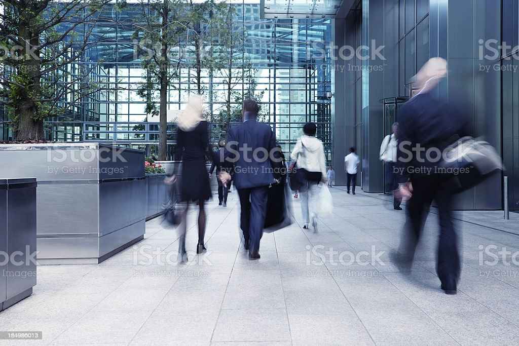 Busy Commute, Blurred Motion royalty-free stock photo