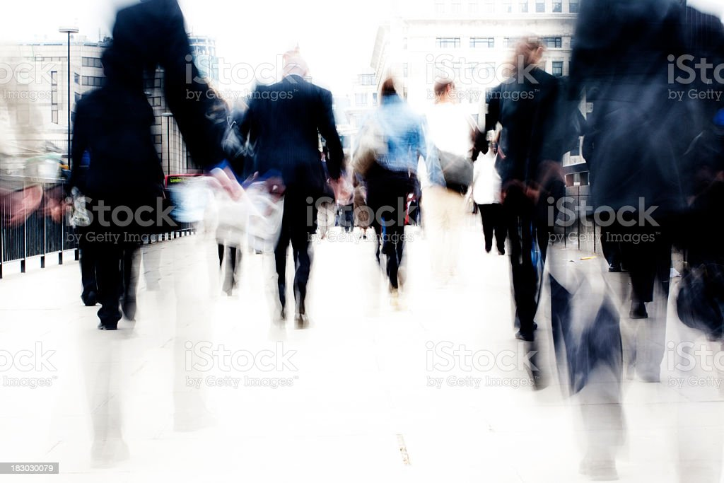 Busy commuters royalty-free stock photo