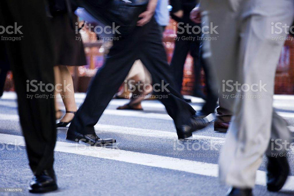 busy crosswalk royalty-free stock photo