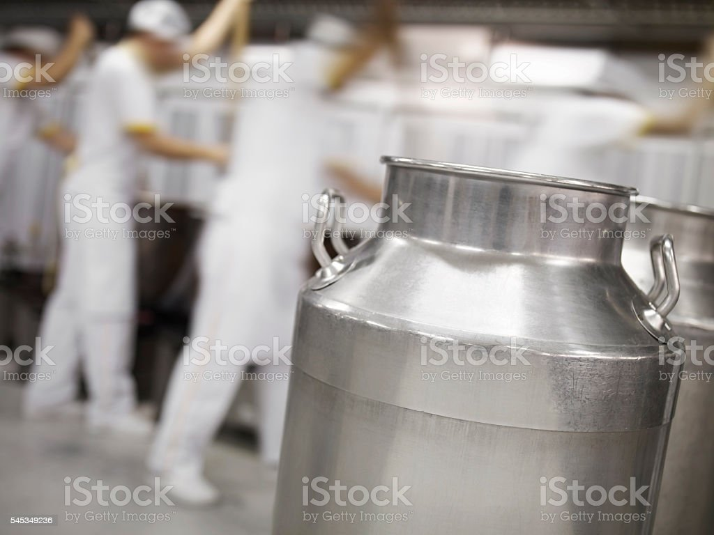 Busy Dairy Farm stock photo